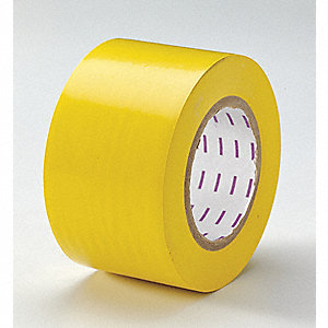 "Safety Warning Tape, Solid, Continuous Roll, 3"" Width, 1 EA"