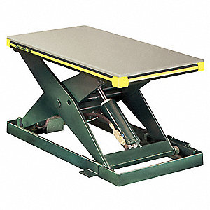 Stationary Electric Lift Scissor Lift Table, 2000 lb. Load Capacity, Lifting Height Max. 42-3/4""