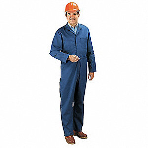 Coverall,Chest 46In.,Navy