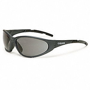 XTS  Scratch-Resistant Safety Glasses, Gray Lens Color