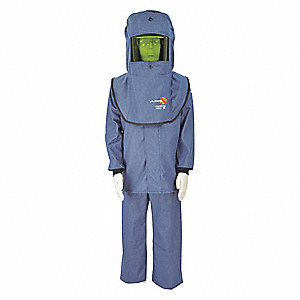 17.0 cal./cm2 Flame-Resistant Coat/Overall Kit, 2-HRC, Blue, 2XL