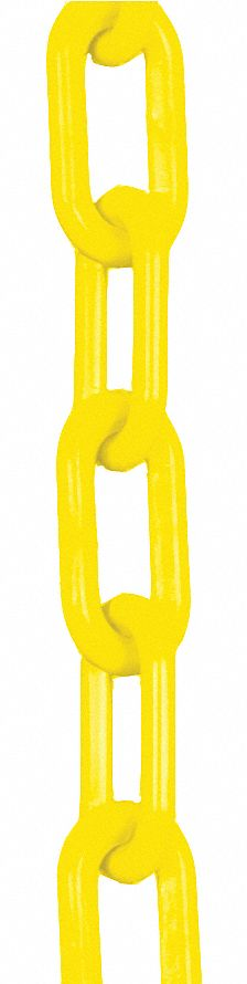 Plastic Chain Yellow 2 in x 100 ft
