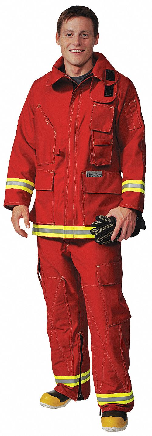 Extrication Jacket,Red,M,Indura Cotton