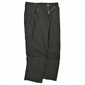 "Men's Dungaree Work Pants, 100% Ring Spun Cotton Duck, Color: Black, Fits Waist Size: 38"" x 36"""