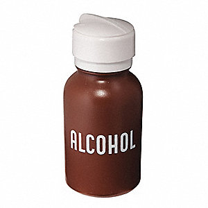 Wide Mouth Round Dispensing Alcohol Bottle, Dispensing, Plastic, 236.6mL, Brown, 1 EA