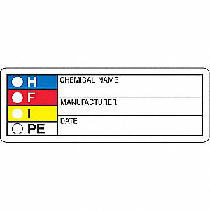 HMIG Label,1-1/8 In. H,3-1/8 In.W,PK1000