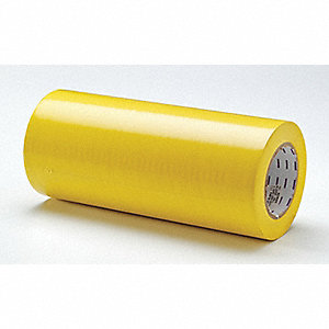 "Safety Warning Tape, Solid, Continuous Roll, 12"" Width, 1 EA"