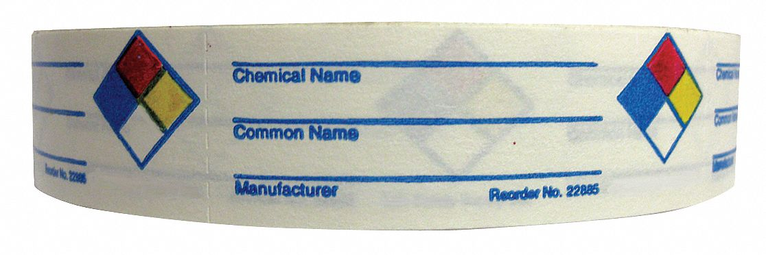 NFR Label,  Paper,  English,  NFR,  Blue, Red, Yellow/White,  1 in Height,  3 in Width,  PK 720