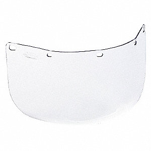Polycarbonate Faceshield Visor, Clear, 1 EA