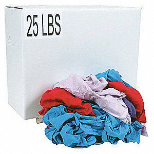 Assorted T-Shirt, Size: Varies, 25 lb. Box