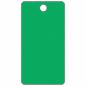 "Blank Tag, Green, Height: 5-3/4"" x Width: 3"", 25 PK"