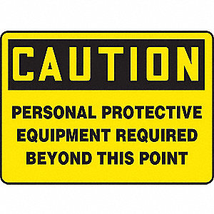 Caution Sign,10 x 14In,BK/YEL,PLSTC,ENG
