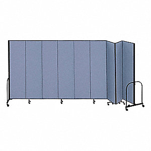 16 ft. 9 in. x 6 ft. 8 in., 9-Panel Portable Room Divider, Blue
