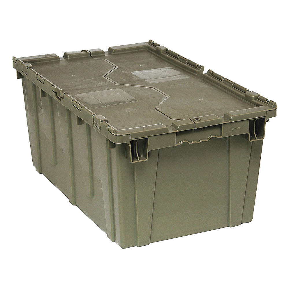 2.5 cu Gray ft. QUANTUM STORAGE SYSTEMS QDC2717-12 Attached Lid Container