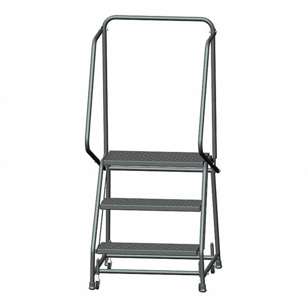 Ballymore 3 Step Rolling Ladder Perforated Step Tread 58