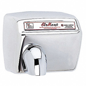 Stainless Steel, Fixed Nozzle Automatic Hand Dryer, Surface Mount Voltage