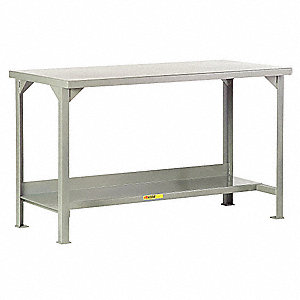 Workbench, Steel, 30 in Depth, 36 in Height, 60 in Width, 4,500 lb Load Capacity