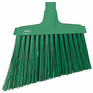 "Synthetic Angle Broom Head, 11-51/64"" Sweep Face"