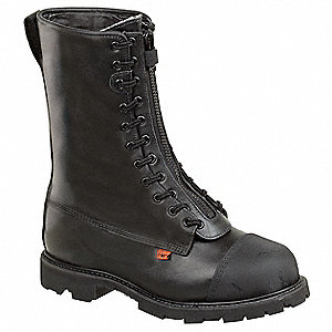 Men's Structural/Wildland Firefighting Boots, Size 10-1/2, Footwear Width: M, Footwear Closure Type: