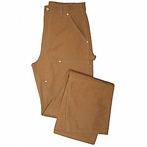 DOUBLE FRONT WORK DUNGAREE 31 30 BROWN