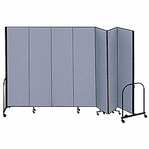 Partition,13 Ft 1 In W x7 Ft 4 In H,Blue