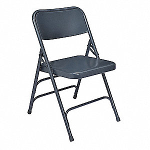 Folding Chair,Blue,18-3/4 In.,PK4