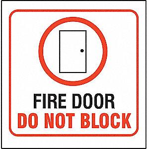 3D PROJ SIGN FIRE DOOR DNB