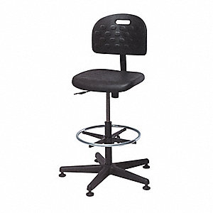 Value-Line Seating Stool with 300 lb. Weight Capacity, Black