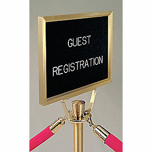 Satin Brass Sign Frame