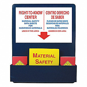 MSDS Center Board,30 In. H,24 In. W