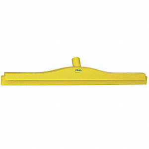"24""W Straight Double Rubber Floor Squeegee Without Handle, Yellow"