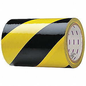 Hazard Marking Tape,Roll,6In W,54 ft. L