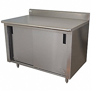 "Work Table, 60"" Width, 30"" Depth  Stainless Steel Work Surface Material"