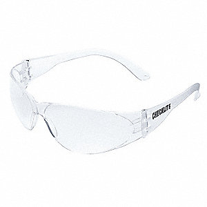CHECKLITE® Uncoated Safety Glasses, Clear Lens Color