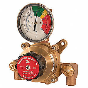 "1/2"" Sweat Inlet Type Emergency Mixing Valve, Bronze, 2 to 9 gpm"