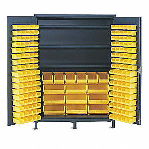"Bin Cabinet, 84"" Overall Height, 60"" Overall Width, Total Number of Bins 185"