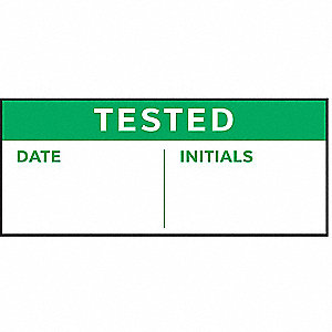 "Inspection Label, Polyester, Height: 5/8"" x Width: 1-1/2"", 350 PK"