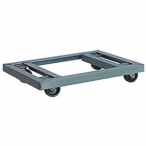 "36""L x 24""W x 4-3/8""H Gray General Purpose Dolly, 1000 lb. Load Capacity"