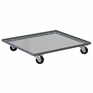 "27""L x 16""W x 5-1/2""H Gray General Purpose Dolly, 1000 lb. Load Capacity"