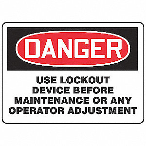 Danger Security Sign,10 x 14In,ENG,Text