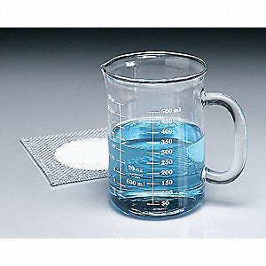 Glass Heavy Duty Beaker, Low Form, Low Form, 50 to 350mL, 6 PK