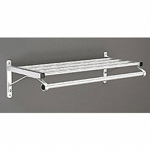 Coat Rack,1 Shelf,24 In W,Satin Aluminum