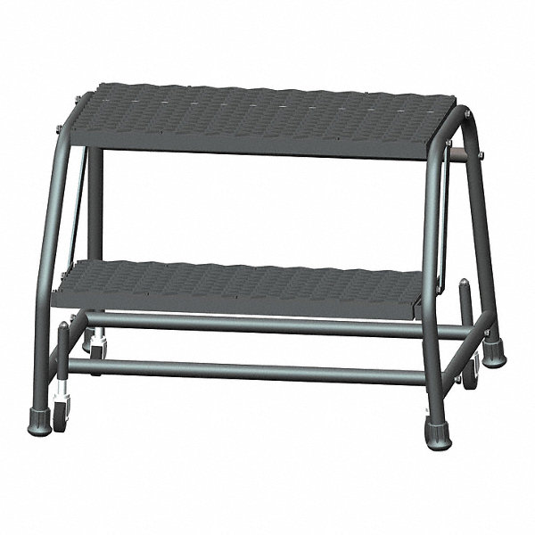 Ballymore 2 Step Rolling Ladder Expanded Metal Step Tread