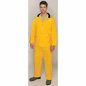 652ce158bba 3-Piece Rain Suit with Jacket Bib Overall