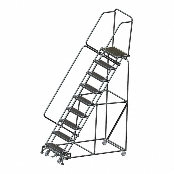 Ballymore 9 Step Rolling Ladder Abrasive Mat Step Tread