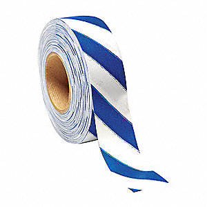 Flagging Tape,White/Blu,300ft x 1-3/16In
