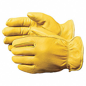 Cold Protection Gloves, Thermal Lining, Shirred Cuff, Yellow, L, PR 1