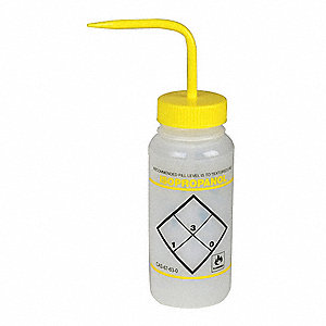 Wash Bottle,Std,16 oz,Isopropanol,Yw,PK6