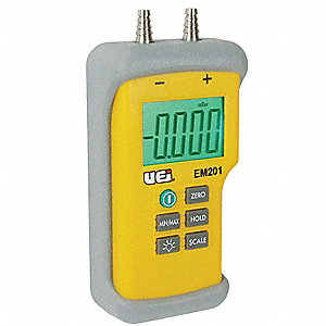 Digital Manometer,-60 to +60 In.WG