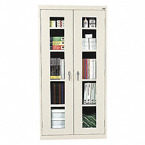 "Commercial Storage Cabinet, Putty, 72"" H X 36"" W X 12"" D, Assembled"
